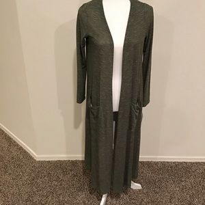 Lularoe olive green Sarah, NEW WITH TAGS